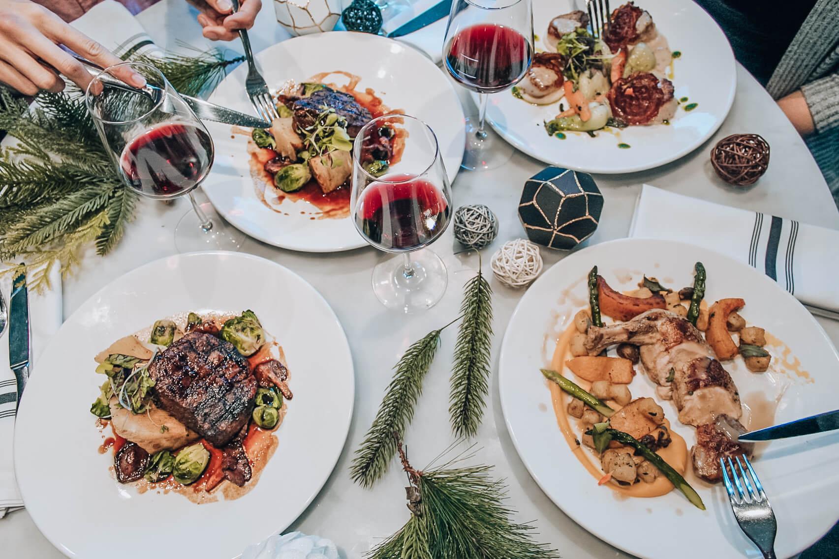 Table d'hôte souper de Noël | Maggie Oakes | restaurant Vieux-Montréal